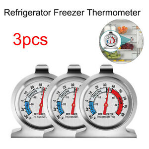 3PCS Stainless Steel Refrigerator Freezer Thermometer for Kitchen Household