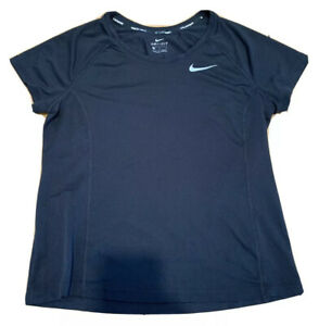 Nike RUNNING Dri Fit GIRLS Size MEDIUM BLACK Short Sleeve T Shirt $12.99