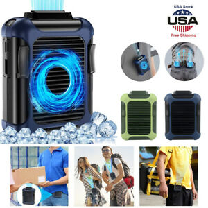 3 Speeds Portable Quiet Rechargeable Mini Hanging Waist Fan4000mAh Power Bank