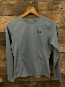 Under Armour Women's Blue Grey Long Sleeve Athletic Running Shirt Size S $13.49