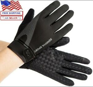 Workout Gloves Full Finger Palm Protection Hand Grip Gym Gloves Weight Lifting $9.97