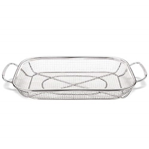 Stainless Steel Grill Accessories Vegetables Grilling BBQ Barbecue Basket New