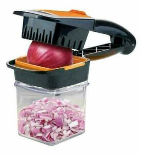 Food Chopper Dicer 3 Stainless Steel Blades Container Vegetable Onion Cutter