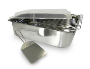 Large Roasting Pan Chicken Turkey Roaster Rectangular With Rack Lid Oven Lasagna