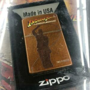 Completely unopened German limited sale Indiana Jones Zippo & Blu-ray 855