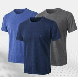 Mens Sports Compression Fitness Base layer Gym Running Cool Dry Shirts Tops $13.29
