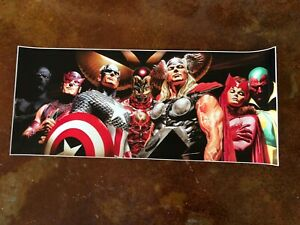 Avengers Alex Ross Large Litho art Captain America Iron Man Thor Vision Hawkeye $99.00