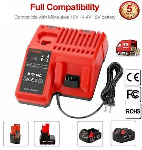 Multi Voltage Rapid Charger for Milwaukee Lithium Battery M12 M14 M18 48 11 2401
