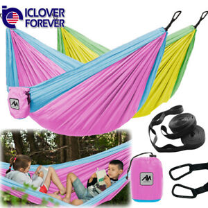 Outdoor Hammcok For Kids Indoor Camping Portable Hanging Bed Swing Double Small