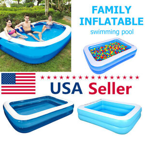 Family Swimming Pool Outdoor Garden Summer Inflatable Kid Adult Paddling Pool US