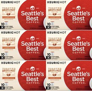 Seattle's Best Coffee Toasted Hazelnut Keurig K-Cups 60 Count BBD 7/2020