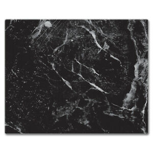 Black Marble Design Glass Cutting Board 15 x 12 Inches $23.45