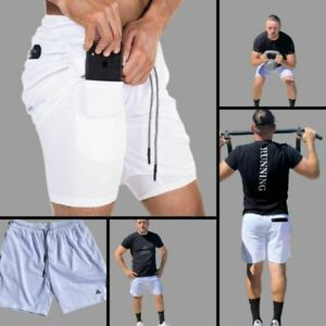 2 in 1 running men's shorts ultra dry Liner Compression with phone pocket $20.00