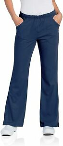 Urbane Women's Tall Size Ultimate Soft Stretch Elastic Waist Flare Leg Scrub Pan