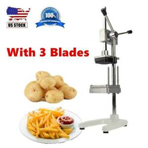 Vertical Manual Cut Fries Machine 3 Blades Vegetable Potato French Fries Cutter
