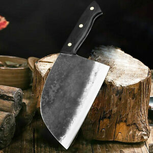 Kitchen Chef Knife Hunters Serbian Steel Knives Cleaver Forged High Carbon Clad