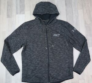 Men's Under Armour SC Stephen Curry Hoodie Loose Large Gray Zip $19.99