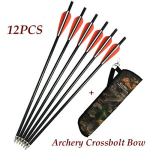 Archery Crossbow Arrows12P Archery Quiver Camo Waist Shoulder forTarget Hunting