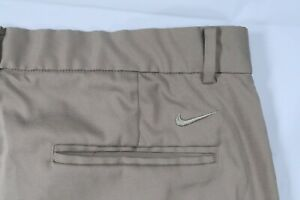 NIKE GOLF 833222 FLEX CORE FLAT FRONT TECH DRI FIT 35 KHAKI 10 SHORTS STRETCH $24.98