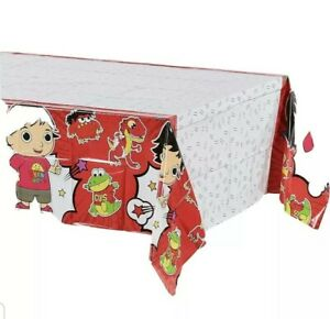 "Ryan's World DesignWare Red Decorative Tablecover 54"" x 96"" Birthday Party New"