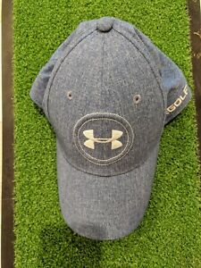 Under Armour Jordan Spieth Logo Tour Fitted Hat Cap SM MD Golf Blue Barely used $8.50
