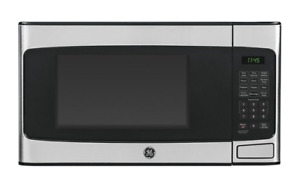 Microwaves - GE 1.1 Cu. Ft. Mid-Size Microwave - Stainless steel