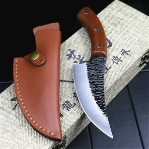 Chef Kitchen Knife Clever Knife High Carbon Steel Outdoor Knives Butcher Knife