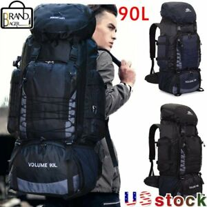 90L Travel Camping Backpack Hiking Army Climbing Bags Sigman lion Sport Rucksack
