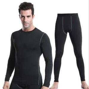 Mens Fitness Compression Underwear Base layer Cool Dry Shirts Pants Tops Suit $24.69
