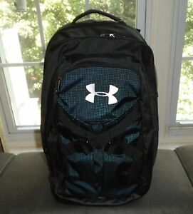 Under Armour Recruit 2.0 Backpack Storm 15 Laptop Holder Black Blue NWT $65 $34.99