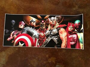 XXL Avengers Alex Ross Large Lithograph Captain America Iron Man Thor Vision $125.00