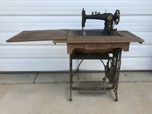 VIntage Diamond A Sewing Machine with Cast Iron Base and Wooden Top $75.00