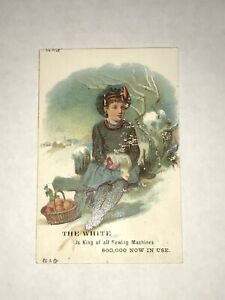 Vintage Victorian The White Sewing Machine Trade Card J5 $2.37