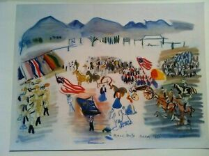 RAOUL DUFY RARE French Lithograph Print 1951 Parade Tucson Arizona Plate Signed $999.99