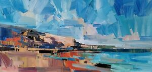 JOSE TRUJILLO Oil Painting IMPRESSIONISM SEASCAPE COLLECTIBLE MODERN ARTIST NR $22.50