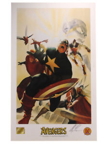 Avengers Commemorative Lithograph Signed Alex Ross Artist Marvel Comics Heroes $19.99