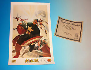 Avengers Commemorative Lithograph Signed by Alex Ross with Certificate Marvel $49.99