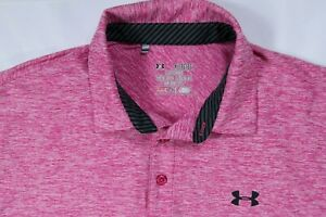 UNDER ARMOUR GOLF MENS XL PINK 1242757 ELEVATED HEATHER PERFORMANCE POLO SHIRT $24.98