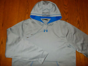 UNDER ARMOUR GRAY HOODED SWEATSHIRT MENS LARGE EXCELLENT CONDITION $0.99