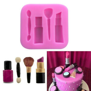 3D Makeup Silicone Fondant Cake Mold Chocolate Pastry Baking Mould Sugarcraft