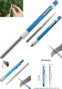 Knife Sharpener Pen 3-in-1 Retractable Pocket Sharpening Diamond Alloy Pen-File