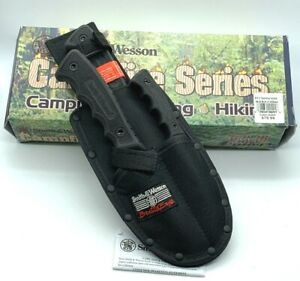 Smith and Wesson Samp;W Campfire Knife Set Cleaver Gut Hook Caping Hunting Knives
