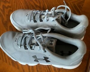Women's Under Armour Charged Gray Athletic Shoes $25.00