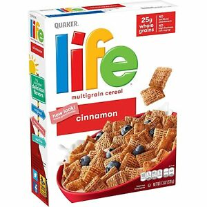Life Breakfast Cereal, Cinnamon, 13oz Boxes 3 Pack