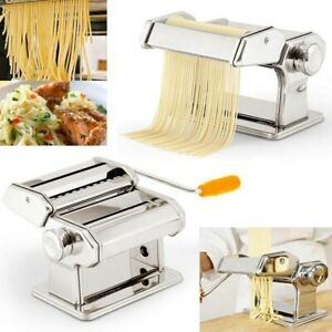 OxGord Den Haven Stainless Steel Pasta Maker Machine - Fresh Spaghetti Fettucci