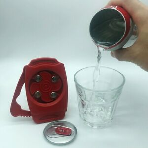 Go Swing Topless Can Opener Party Beer Bottle Top Drafter Tool - Red