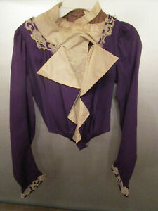 Women#x27;s Vintage Victorian Purple Top with Stays and Lace $59.99
