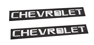 2x Chrome Chevrolet Emblems 3D Tailgate Letter Badges 2500HD SILVERADO Sierra