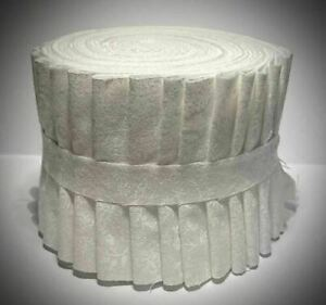 White Jelly Roll Tone on Tone 18 2.5quot; strips 100% Quilting Cotton $12.50