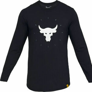 UNDER ARMOUR Project Rock T SHIRT CHOOSE SIZE MEN All Day Hustle long sleeve NWT $36.97